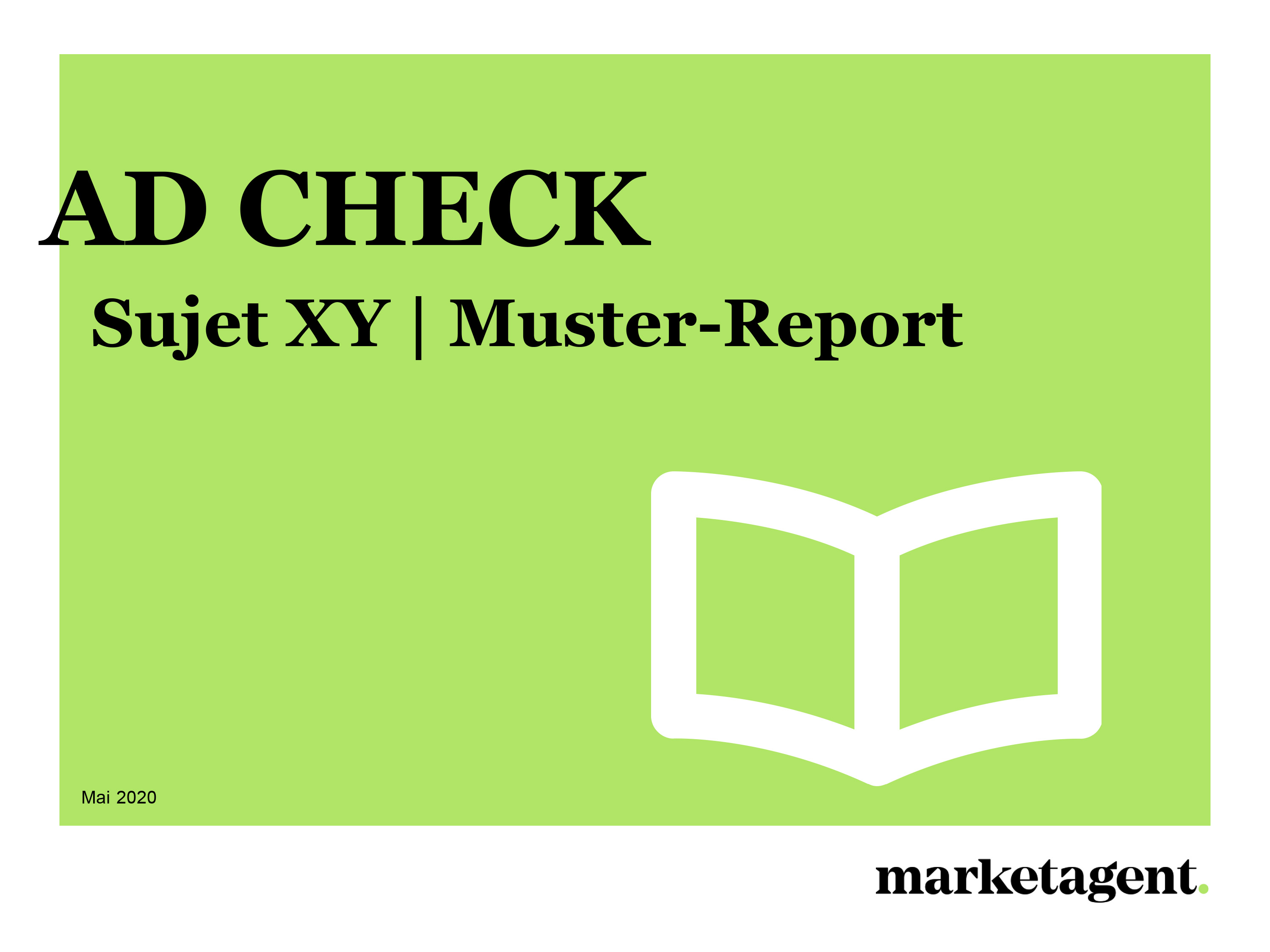 Muster-Report Ad Check
