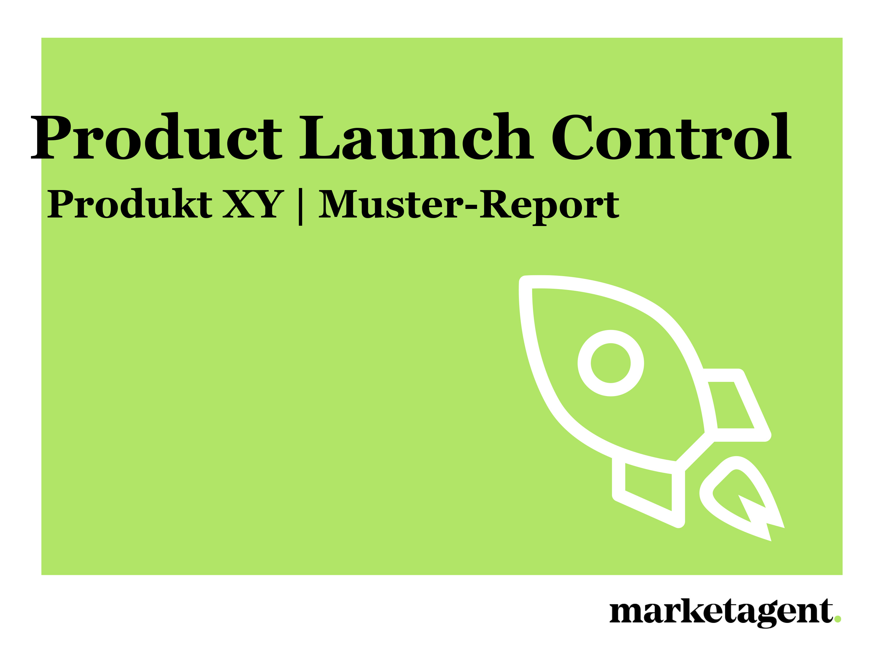 Muster-Report Product Launch Control