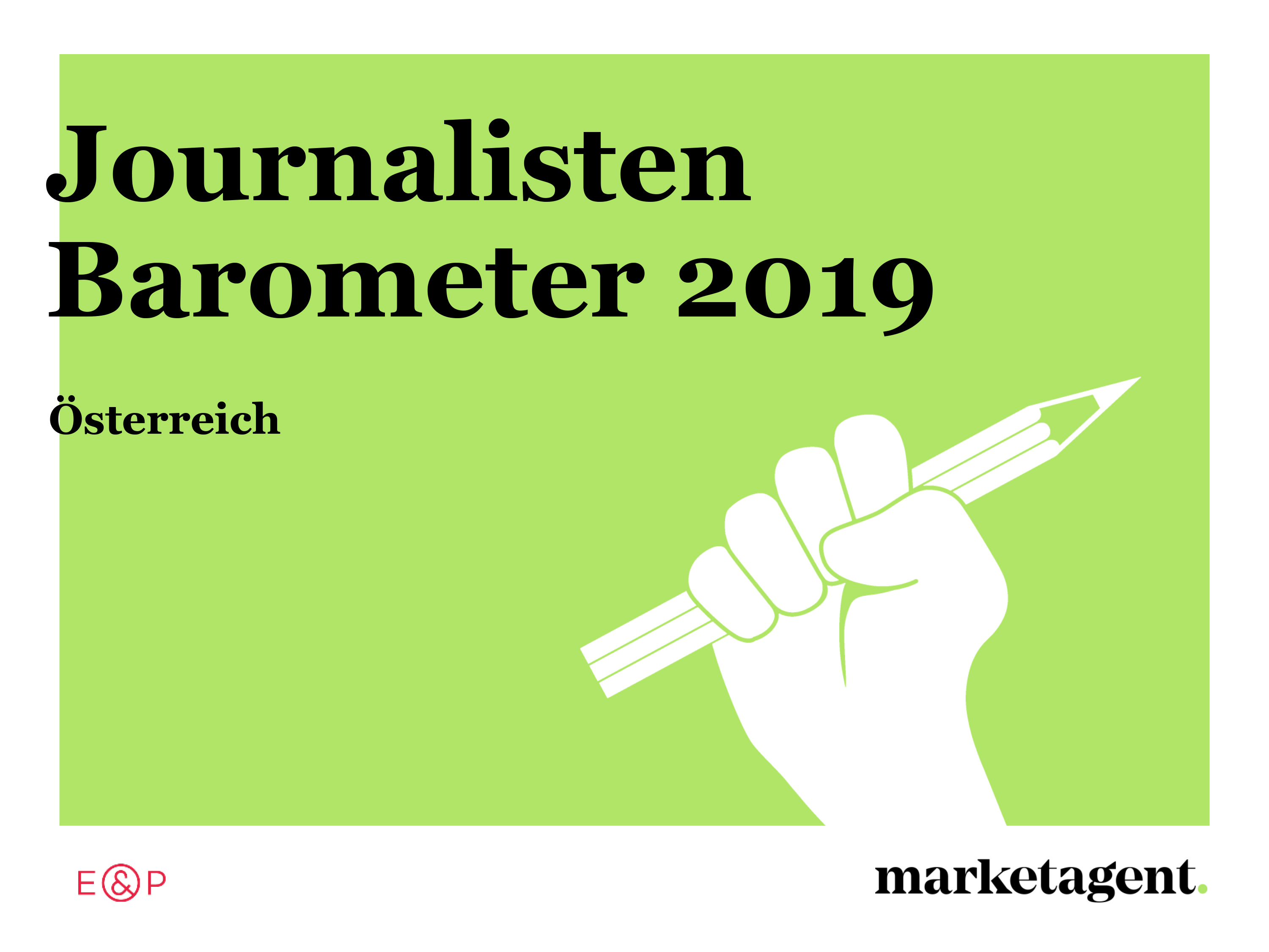 Studiendownload: Journalistenbarometer 2019