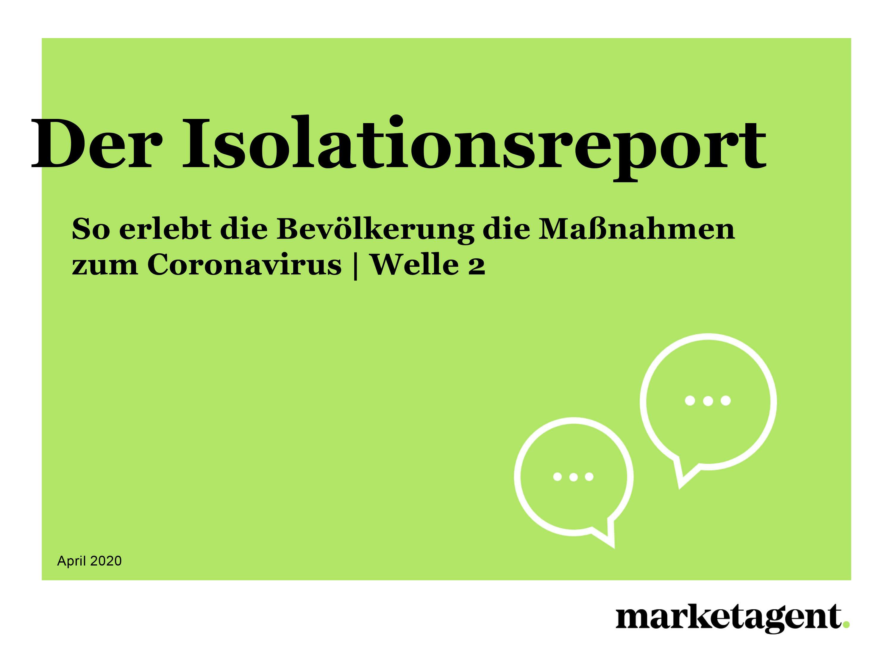 Isolationsreport Welle 2