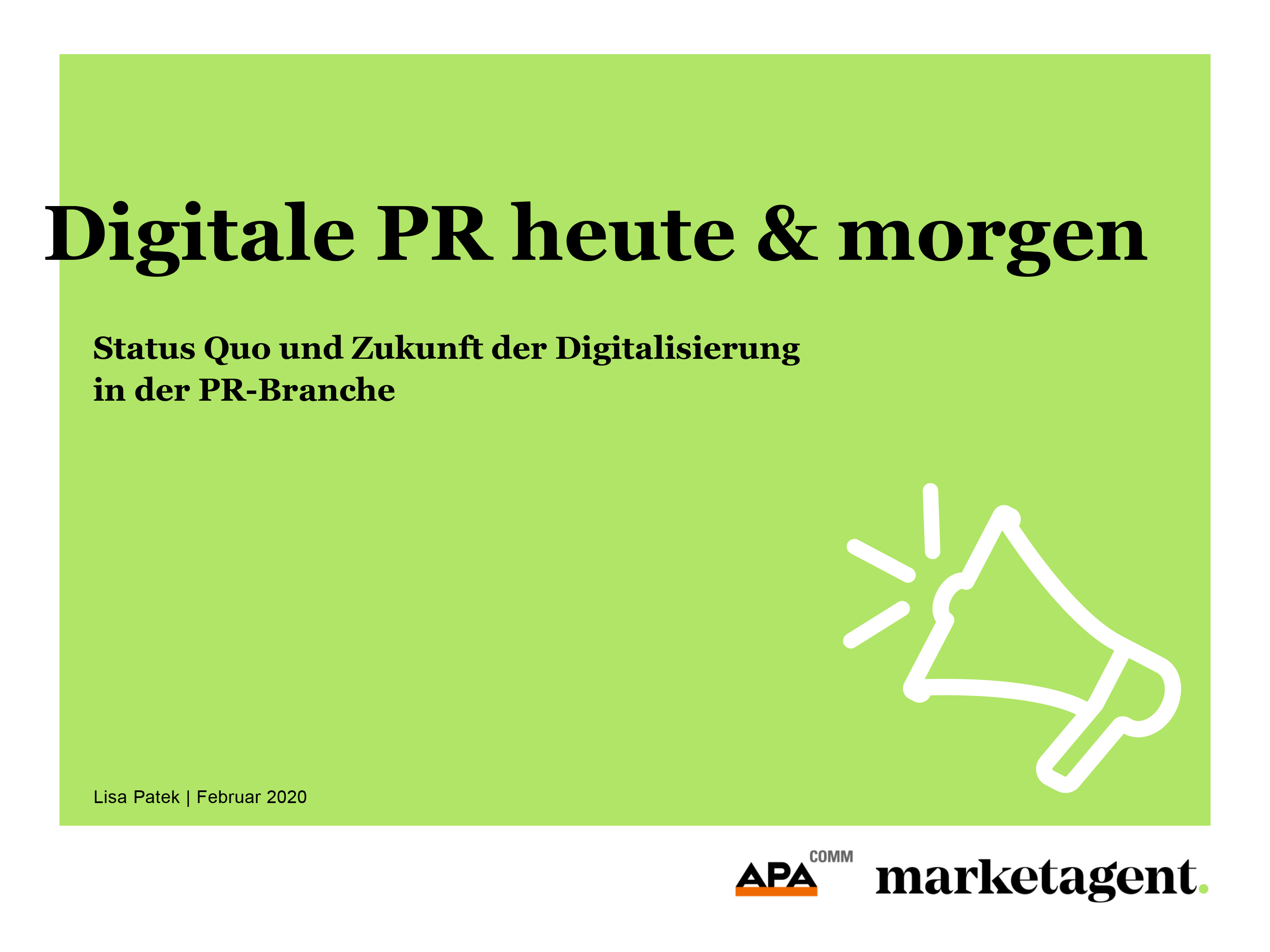 Studiendownload: Digitale PR heute & morgen